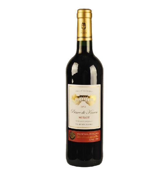 凯伦王子美乐干红葡萄酒  一箱六瓶