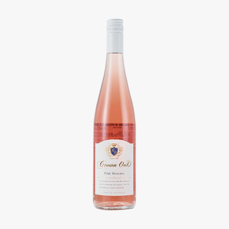 澳大利亚原瓶进口红酒 皇冠橡木莫斯卡托桃红葡萄酒750ML