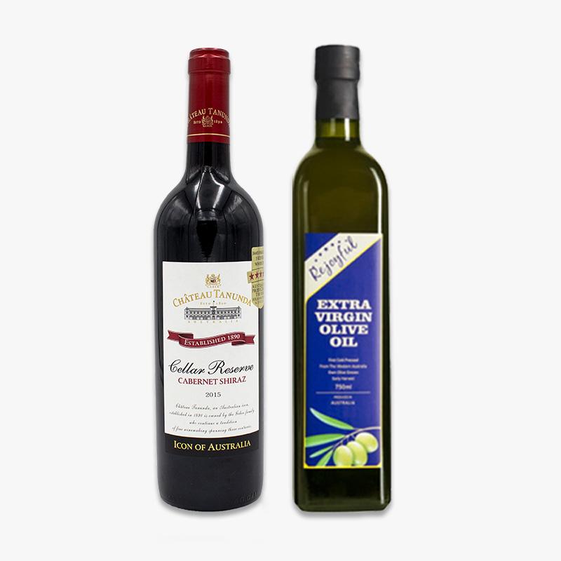 好油好酒组合澳大利亚进口红酒搭配澳洲橄榄油套餐