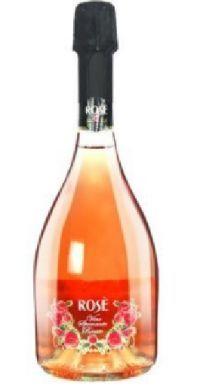 玫瑰半干桃红气泡葡萄酒 六瓶装